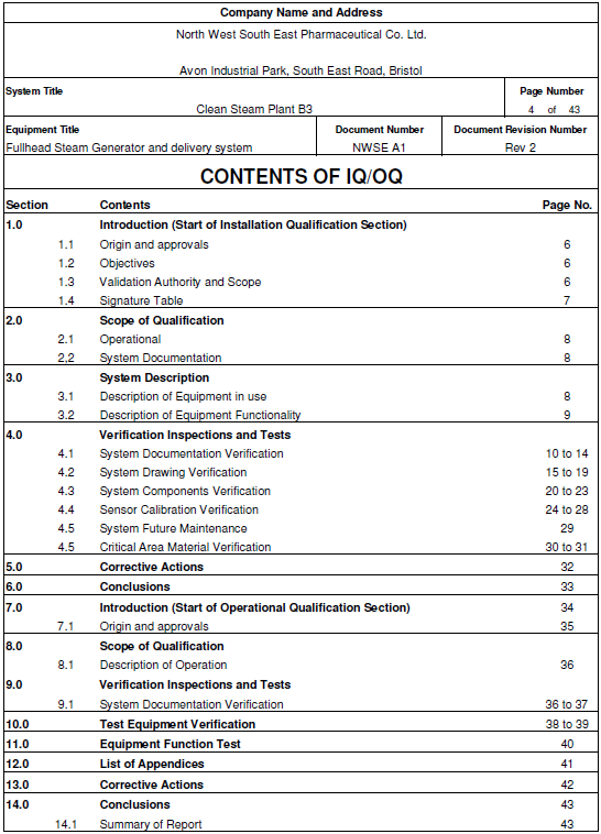 iq oq pq validation templates - iq oq pq validation templates image collections template